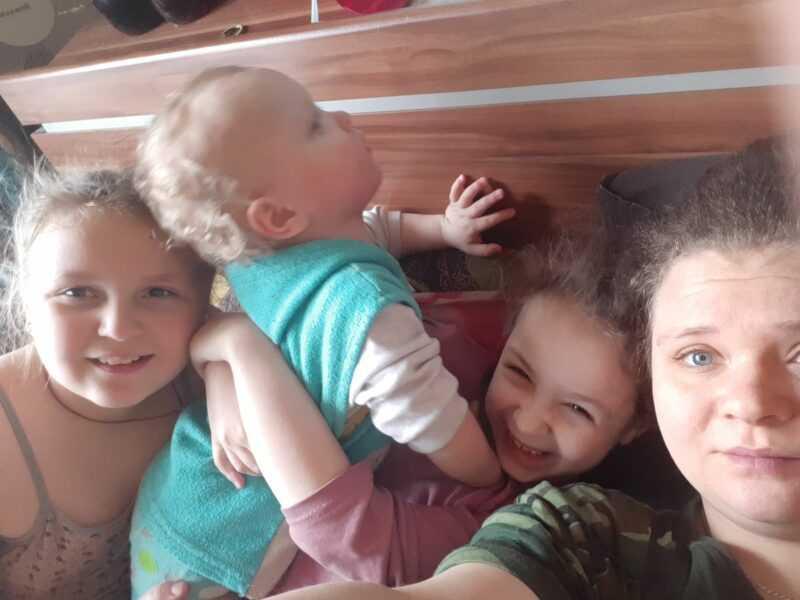 Фото я с троих детей