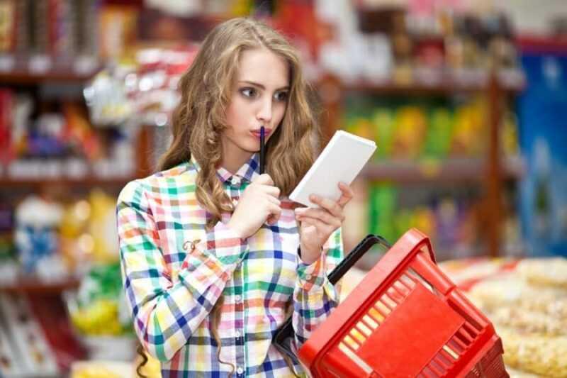 экономия денег со списком продуктов