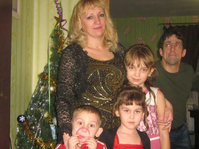Моя жена и дети с племянниками