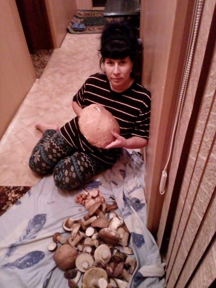 Я очень любила ходить за грибами